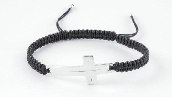 Гривна Шамбала със сребърен кръст