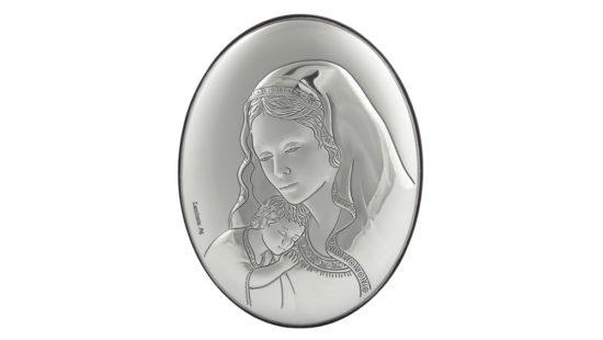 Сребърна икона на Божията майка