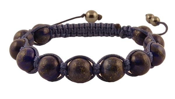Гривна Шамбала с естествен камък Лазурит