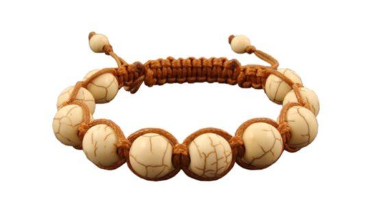 Гривна Шамбала ръчно направена от полускъпоценен камък Хаулит.