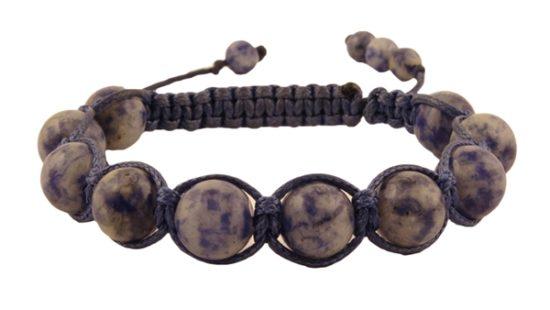 Гривна Шамбала с естествен камък Содалит