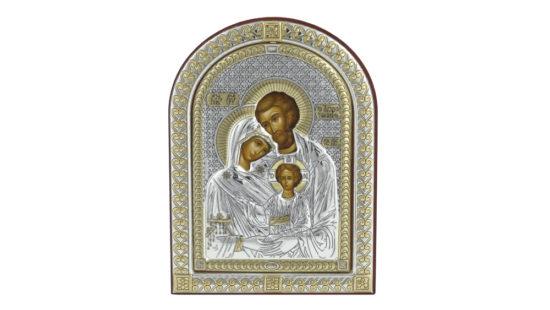 Сребърна икона на светото семейство
