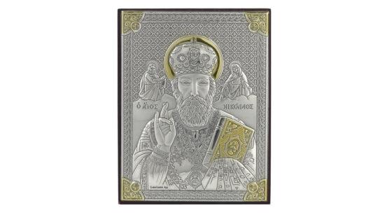 Сребърна икона на Свети Николай