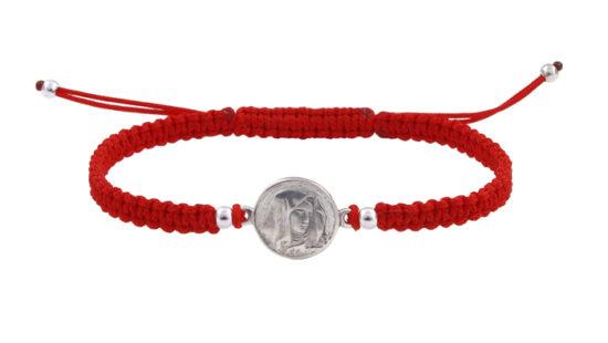 Гривна с червен конец и Света Богородица