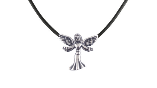 Сребърен медальон Ангел